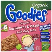 Organix Goodies 1 Year+Organic Raspberry and Apple Soft Oaty Bars 6 x 30 g