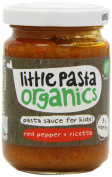 Little Pasta From 9 Months Organic Red Pepper and Ricotta Sauce Toddler and Kids Pasta Sauce 130 g