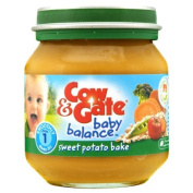 Cow & Gate Baby BalanceTM Stage 1 Sweet Potato Bake 125g - Pack of 6