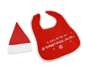 Baby Christmas Santa Hat & Bib With Message Set