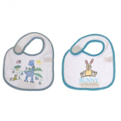 Baby Boy Animal Design Bib with Velcro Strap (Pack of 2) (One Size)