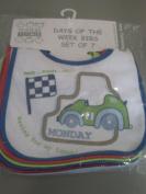 Nursery Time Boys Days Of The Week Easy Fastening Bibs pack of 7