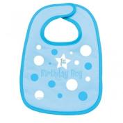 Amscan International First Birthday Boy Fabric Baby Bib