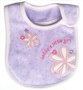 Colourful Baby World Baby Girl Embroidered Pink Bibs - Daddy's Little Girl Yellow