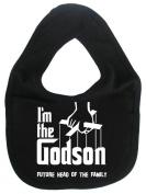 Image is Everything - I'm the Godson... future head of the family - Baby, Toddler, Feeding Bib, Black