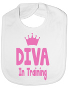 Diva In Training - Funny Baby/Toddler/Newborn Bib - Baby Gift