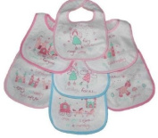 7 Pack Baby Bibs Fairy Tales in pink