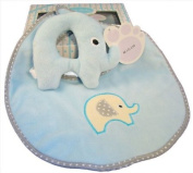 Baby Boxed Gift Set Pink - Rattle & Bib