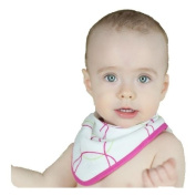 Super Soft Bamboo Baby Bandana Bib - Blue Bubbles