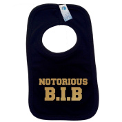 NOTORIOUS BIB PULLOVER BABY BIBS - Doubled Layered - (Black) - 100% Cotton Baby Newborn big hip hop old skool cool Toddler Perfect Gear Clothing Boy Girl Mum Dad Mummy Daddy Grow Gift Custom Present Birthday Christening play toy Cute - Mac ..
