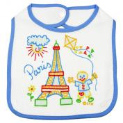 Souvenirs of France - Paris Bib - Colour : White and Blue