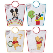 Babycalin DIS204101 Bib with Elastic Band Attachment Mickey Mouse and Winnie the Pooh