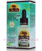 OKAY 100 Percent Pure Macadamia Nut Oil 30 ML