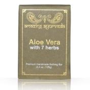 Amazing Ayurveda Premium Handmade Soap- Aloe Vera with 7 Herbs, 130ml
