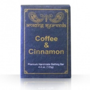 Amazing Ayurveda Premium Handmade Soap- Coffee & Cinnamon, 130ml