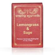 Amazing Ayurveda Premium Handmade Soap- Lemongrass & Sage, 130ml