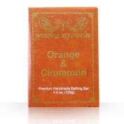 Amazing Ayurveda Premium Handmade Soap- Orange & Cinnamon, 130ml