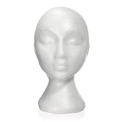 Styrofoam Foam Manikin Head Stand Model Wig hair Hat Mannequin Display Femal