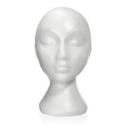 Styrofoam Foam Manikin Head Stand Model Wig hair Hat Mannequin Display Femal