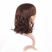 Taobaopit Fashion Girl Natural Short Curly Wigs-Brown-Ladies