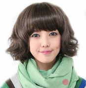 Taobaopit Fashion Girl Natural Short Curly Wigs-Light Brown-Ladies