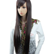 MelodySusie High Quality Fashion Women's Long Straight Wig Hair Sexy Wine Red / Black/ Dark Brown