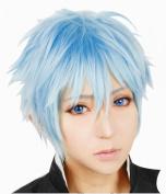Anangelhair +Free Hair Cap Kuroko's Basketball Tetsuya Kuroko Ice Blue Hair Cos Cosplay Wig Hallowmas