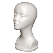 A1Pacific 33cm STYROFOAM FOAM MANNEQUIN head wig display hat glasses
