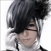 Mordor Black Butler Kuroshitsuji Ciel Phantomhive Cosplay Black Grey Cosplay wig+free wig cap MH