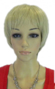 Yazilind Cool Short Pale Blonde Punk Heat Resistant Fibre Synthetic Hair Full Cosplay Anime Costume Wig