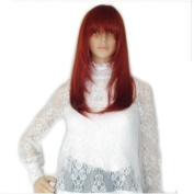 New Burgundy Red Sexy Long Straight Hair Lady's Full Wig Cosplay Party Wigs