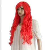 New Long Wavy Red Lady Fashion Loose Full Wig Vogue Wigs Anime Cos Wig