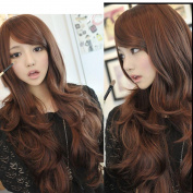 New Sexy Womens Girls Fashion Style Wavy Curly Long Hair Human Full Wigs Colours