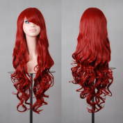 "Free Shipping 32"" 80cm Long Hair Heat Resistant Spiral Curly 12 Colour Cosplay Wig+free Wig Cap"