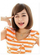 Fashionable Sexy Light Brown Short Straight Lady Wig Party/daily Wigs