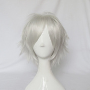 Mordor Dramatical Murder Dmmd Clear Short Silver White Cosplay Full Wig + Free Wig Cap MJ