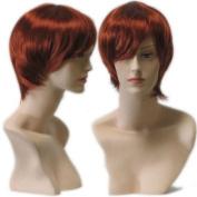 Auburn Red Female Wig