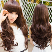Fashion Sexy Full Curly Wavy Long Hair Womens Brown Wigs Cosplay