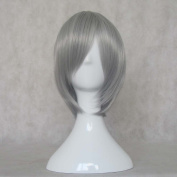 Mordor Hot Sell!! Soul Eater STEIN Silver Grey Short Party Hair Cosplay Wig MH