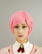 Pink Short Straight Hair Cosplay Wig