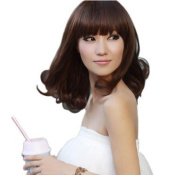 Cute Stylish Short Lady Wig Party Dark Brown Full Wave Wigs