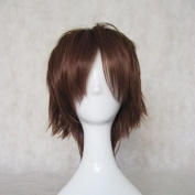 Cosplay Wig Short Hair Brown 35cm