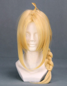 46cm Blonde Cosplay Wig with Braid -- Fullmetal Alchemist Edward Elric