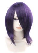 FENGSHANG Starry Sky Kinose Azusa Cosplay and Short Party Wigs Purple 38cm