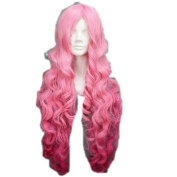 All Star Pink Long Curly Wavy Costume Wigs Cosplay Wigs