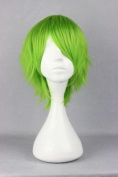 HealthTop 12'' Short Green Anime Cosplay Costume Wig Heat Resistance Performance Hair + Free Cap