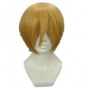 APH Short Mix Light Gold Cosplay Wig Costume Wigs