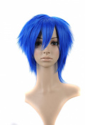FENGSHANG Heat Resisting Party and Cosplay Short Wigs in Beauty Blue 36cm