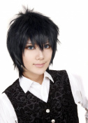 FENGSHANG Lolita and Beauty Hijikata Toushirou Cosplay Short Wigs 36cm Black