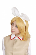 FENGSHANG Lolita and Beauty Vocaloid Kagamine Rin Cosplay or Party Short Wigs 36cm Golden